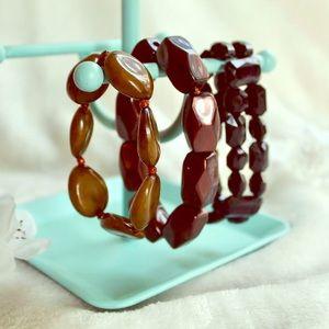 Earth Toned Stretch Bracelets